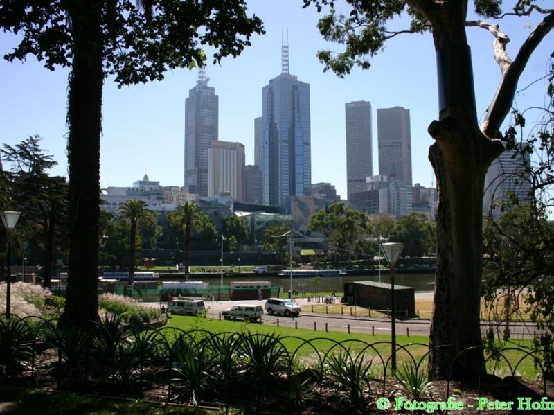 Skyline Melbourne vom Royal Botanical Garden